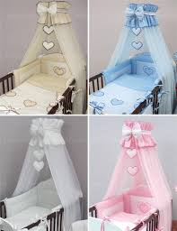 crown cot canopy mosquito net large fits baby cot bed designed with bow hearts