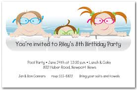 Kids in the Pool Party Invitation