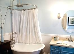 shower curtains for clawfoot tubs tub shower curtain ideas bathroom eclectic solution vintage curtains tub shower