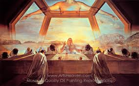 salvador dali inspired by the sacrament of the last supper oil painting reion