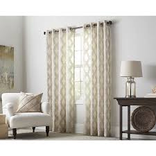 allen + roth Breesport 84-in Oat Polyester Grommet Sheer Single Curtain  Panel