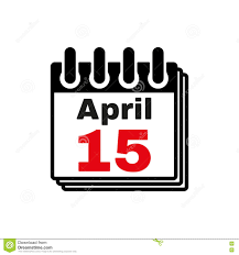 Image result for free calendar icon April 15