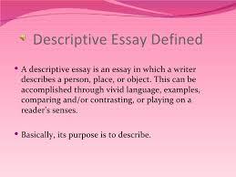 ideas collection definition of descriptive essay on format sample ideas collection definition of descriptive essay for your cover letter
