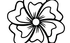 Simple Flower Coloring Pages Large Big