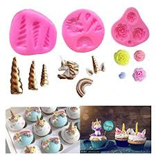 Mini Unicorn Mold Silicone Unicorn Horn Ears Flower And Rainbow