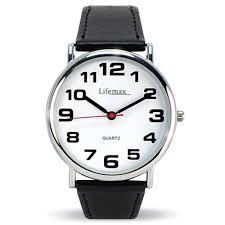 mens clear time classic watch big digit talking watches mens clear time classic watch