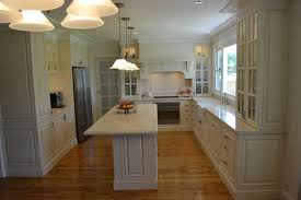 ... New French Provincial Kitchen with Stone Benchtop and Timber Floor ...