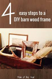 love the rustic barn wood decor look try making this easy diy barn wood frame
