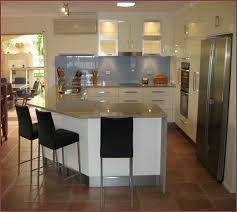 L Shaped Kitchen Island. Small Design With Mdf. Rustic Small L In Shaped  Kitchen