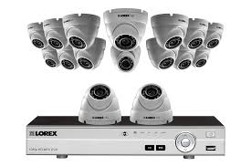 Heavy Duty 16 Dome Camera HD 1080p Home Security System, Outdoor Metal Cameras, 3TB Hard Drive, 130ft Night Vision | Lorex
