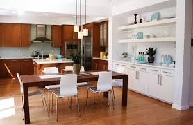 contemporary kitchen furniture detail. Furniture Modern Kitchen Wooden Floor Dining Area Design Contemporary Detail