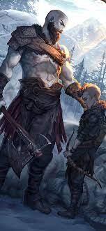 1125x2436 Kratos And Atreus God Of War ...