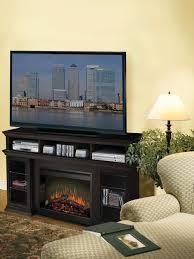 muskoka domus electric fireplace flat panel tv stand in gloss black