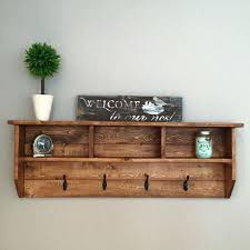 Decorative Coat Rack With Shelf Awesome Rustic Wall Mounted Coat Rack Decoration Wood Coat Rack With Shelf