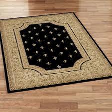 regent fleur de lis rectangle rug