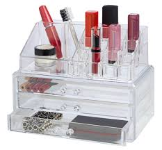 Two Drawer Make Up Organizer - Acrylic  Deluxe Cosmetic Set with Drawers  ...