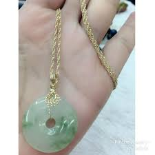 authentic jade coin and 10k rope necklace