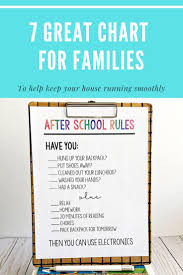 7 Awesome Charts To Keep Your House Running Savvy Sassy Moms