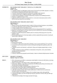 Respiratory Therapist Resume Sample Reg Respiratory Therapist Resume Samples Velvet Jobs 26