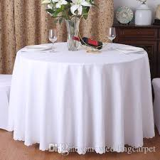 polyester fabric solid round white table cloth for hotel wedding party decoration rectangle tablecloth for home cloth table covers circular tablecloth from