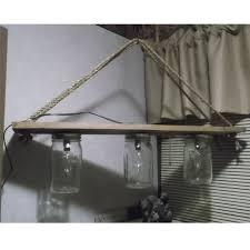 rope mason jar lights. Hanging-rope-and-chain-3bulb-mason-jar-light- Rope Mason Jar Lights