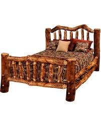 Covered Bridge Furniture Rustic Aspen Log Bed, Extra Gnarly, Queen from Houzz | People
