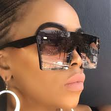 <b>Oversized Square Sunglasses</b> Women <b>2019</b> Luxury Brand Fashion ...