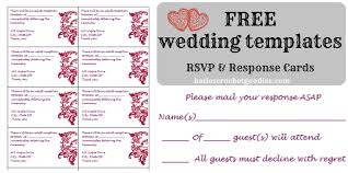 rsvp card template free wedding templates rsvp reception cards katies crochet goodies