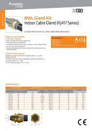 Bicon Cable Gland Selection Chart Prysmian Bicc Bicon Cable Glands Catalogue