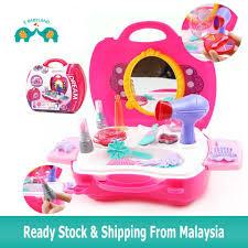 kid toys suitcase make up fashion play set 21pcs