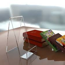 Lucite Plate Display Stands Book plate phone tablet acrylic display stand perspex retail 76