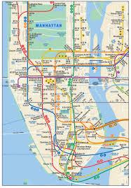 download manhattan subway map  major tourist attractions maps