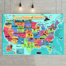 Large Us Map Poster Usa United States Map Poster Size Wall Decoration Large Map