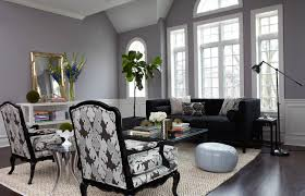 Gray Living Room Interior Design In Traditional Style With Vintage Sofa  Design And Unique Lampshade Decoration