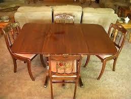 dining table dropleaf antique drop leaf dining table 4 tell city chairs drop leaf dining table