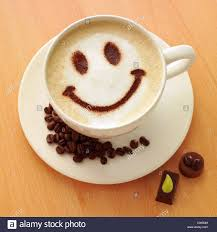 Smiley Face Coffee Mug Coffee Break A Cappuccino With A Smiley Face And A Cookie