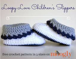 Crochet Children's Slippers Free Patterns