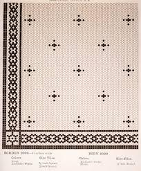 Hexagon Tile Floor Patterns Mosaic Floor Tiles From A 1910 Wards Catalog Bungalow Interiors