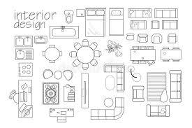 interior Design Floor Plan Symbols Top View Furniture Cad Symbol