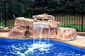 in ground pools with waterfalls. Modren Pools Waterfalls For Pools Inground Pool Fountains With Waterfall  Outstanding Spa With In Ground Pools Waterfalls