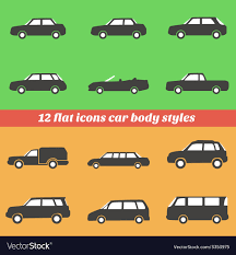Vehicle Body Design Pdf Icon Set Car Body Styles Made In Flat Design