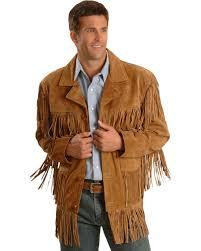 liberty wear fringe suede leather jacket hi res