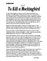 to kill a mockingbird essay conclusions english 10 to kill a mockingbird conclusion ""