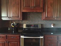 tin ceiling tile installed traditional kitchen