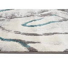 dillon geo modern blue grey rug side image