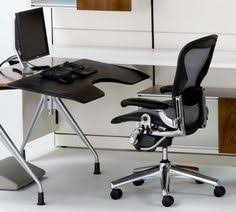 herman miller home office. Herman Miller Polished Aluminum Chrome Base Aeron Chair Leather Arm Large Size C Home Office