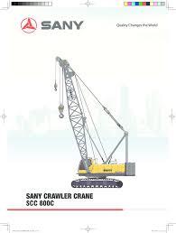 Sany Scc800c Cranepedia