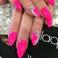 <b>hot</b> pink <b>bling</b> nails | Pink <b>bling</b> nails, Pink nail <b>designs</b>, <b>Hot</b> pink nails