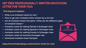 invitation letter for visa with exles