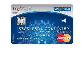 You can redeem all the reward points earned through yes prosperity rewards plus credit card on the official website of yesrewardz. Yes Bank Platinum Prosperity Edge Card Novocom Top